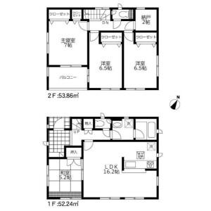 4SLDK House in Yokomizo - Mizuma-gun Oki-machi Floorplan