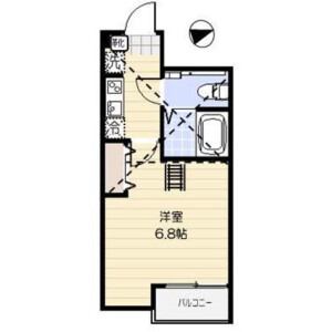 1K Apartment in Ohanajaya - Katsushika-ku Floorplan