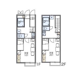 1K Apartment in Shimojicho (oiri) - Toyohashi-shi Floorplan