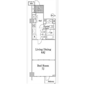 港區白金-1LDK公寓大廈 房間格局