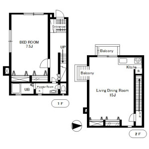 1LDK Mansion in Asagayakita - Suginami-ku Floorplan