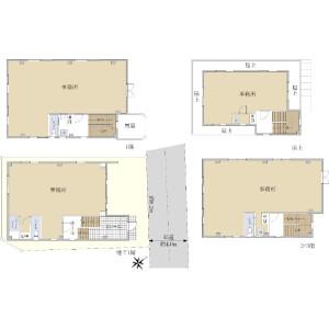 Whole Building {building type} in Kitaaoyama - Minato-ku Floorplan