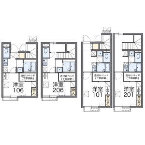 1K Apartment in Tokiwamachi - Machida-shi Floorplan