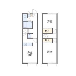 2DK Mansion in Aobacho - Higashimurayama-shi Floorplan