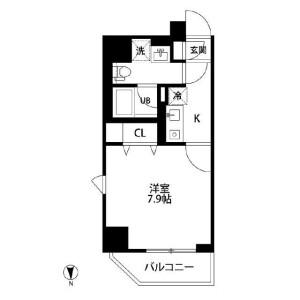 1K Mansion in Higashitabata - Kita-ku Floorplan