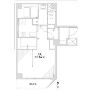 1K {building type} in Nishinokyo minamiharamachi - Kyoto-shi Nakagyo-ku Floorplan