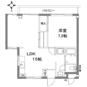 1LDK Mansion in Kodai - Kawasaki-shi Miyamae-ku Floorplan