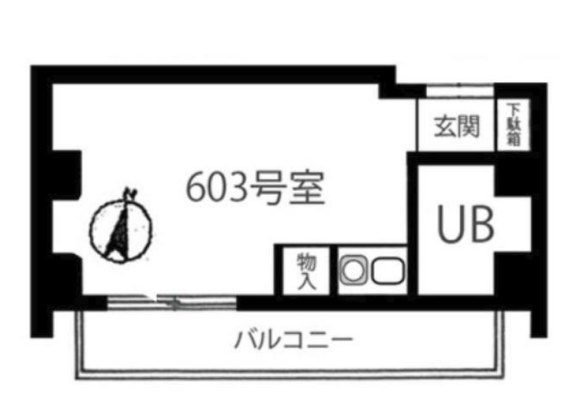 1R Apartment to Buy in Arakawa-ku Floorplan