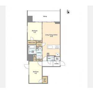 2LDK Mansion in Irifune - Chuo-ku Floorplan
