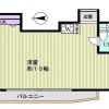在新宿区购买1R 公寓大厦的 楼层布局