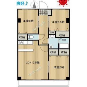 3LDK Apartment in Shirasagi - Nakano-ku Floorplan