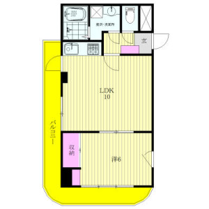 1LDK Mansion in Kikunodai - Chofu-shi Floorplan