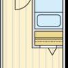 在品川區內租賃1K 公寓大廈 的房產 房間格局