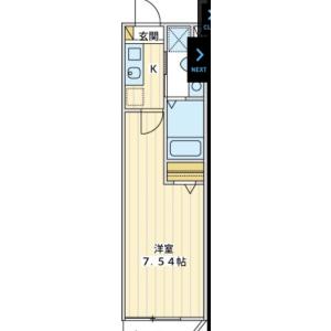 1K Apartment in Kamiosaki - Shinagawa-ku Floorplan