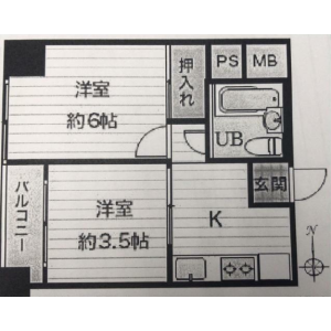 2K {building type} in Funamachi - Shinjuku-ku Floorplan