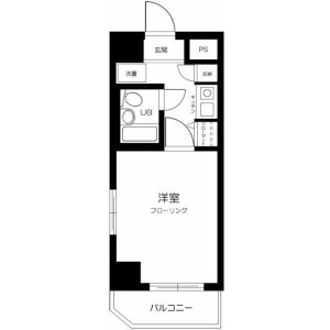 1K Mansion in Nakacho - Saitama-shi Omiya-ku Floorplan