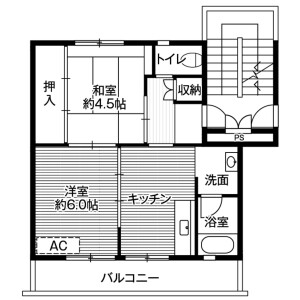 2DK Mansion in Higashiyamacho nagasaka - Ichinoseki-shi Floorplan
