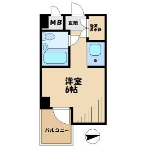 1R Mansion in Minamidaira - Hino-shi Floorplan
