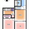 2DK Apartment to Buy in Setagaya-ku Floorplan