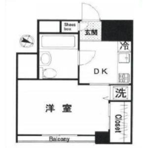 1DK {building type} in Nishigotanda - Shinagawa-ku Floorplan