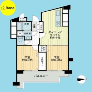 2DK {building type} in Kamitakada - Nakano-ku Floorplan
