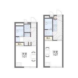 1K Apartment in Fujimi - Ageo-shi Floorplan