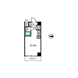 1R {building type} in Tsuruyacho - Yokohama-shi Kanagawa-ku Floorplan