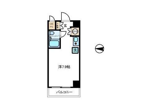 1R Apartment to Buy in Yokohama-shi Kanagawa-ku Floorplan