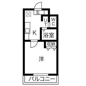 1K Mansion in Shibatacho - Nagoya-shi Minami-ku Floorplan