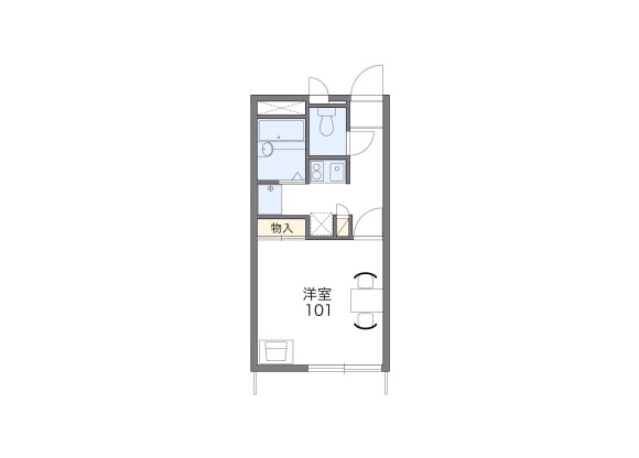 1K Apartment to Rent in Miura-shi Floorplan