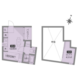 1R Mansion in Umegaoka - Setagaya-ku Floorplan