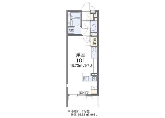 1R Apartment to Rent in Taito-ku Floorplan