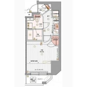 1K Mansion in Matsugaya - Taito-ku Floorplan