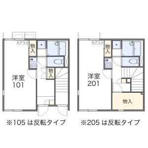 1K Apartment in Wakamiya - Okegawa-shi Floorplan