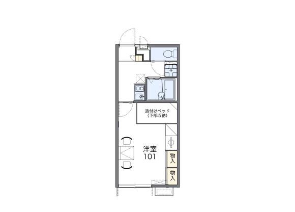 1K Apartment to Rent in Matsusaka-shi Floorplan
