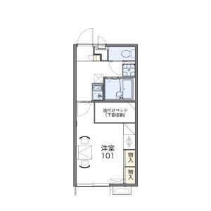 1K Apartment in Higashimachi - Matsusaka-shi Floorplan