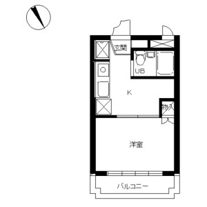 1K Mansion in Hoshigaoka - Sagamihara-shi Chuo-ku Floorplan