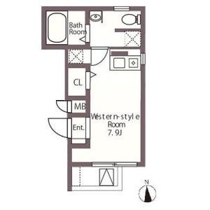 1R Apartment in Asakusabashi - Taito-ku Floorplan