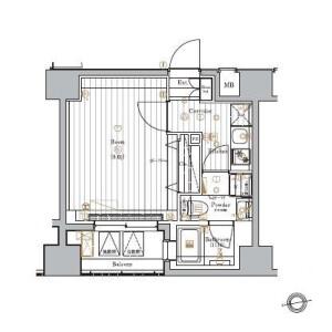 1K Mansion in Higashiazabu - Minato-ku Floorplan