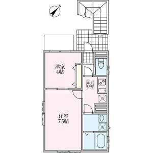 2K Apartment in Hommachi - Shibuya-ku Floorplan