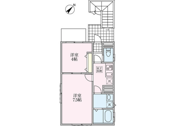 2K アパート 渋谷区 間取り