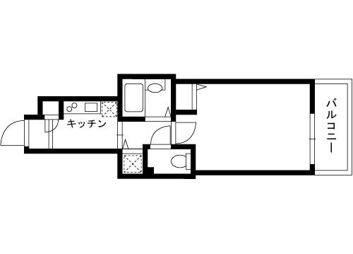 在江东区内租赁1K 公寓大厦 的 楼层布局