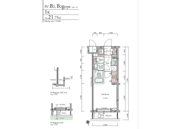 1K Apartment to Buy in Shinagawa-ku Floorplan