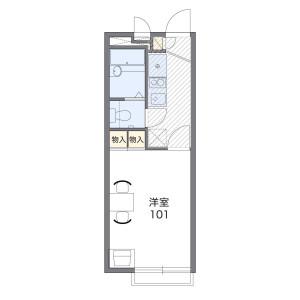横須賀市 - 平作 简易式公寓 1K 楼层布局