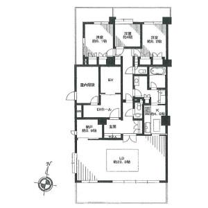 3LDK Apartment in Takanawa - Minato-ku Floorplan