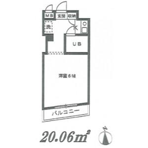 1K Mansion in Shinkawacho - Yokohama-shi Minami-ku Floorplan