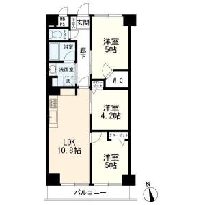 3LDK Apartment in Higashiyaguchi - Ota-ku Floorplan