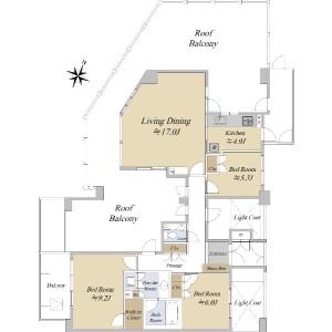 3LDK {building type} in Tsurumaki - Setagaya-ku Floorplan