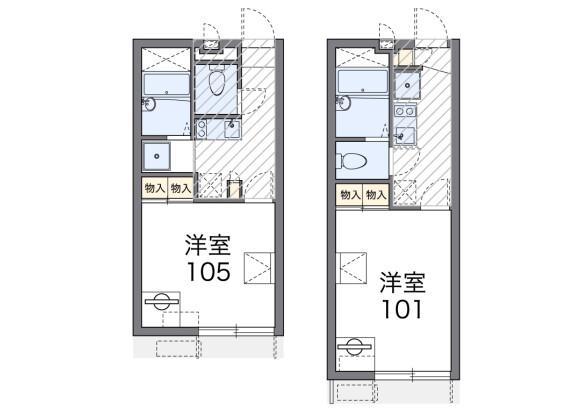 1K Apartment to Rent in Odawara-shi Floorplan