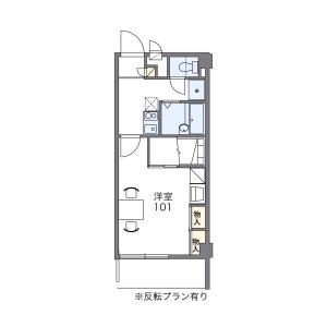 1K Mansion in Narayamachi - Fukuoka-shi Hakata-ku Floorplan